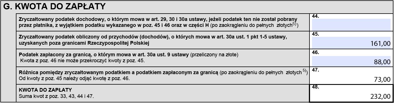 PIT-38 Strata z lat ubiegłych