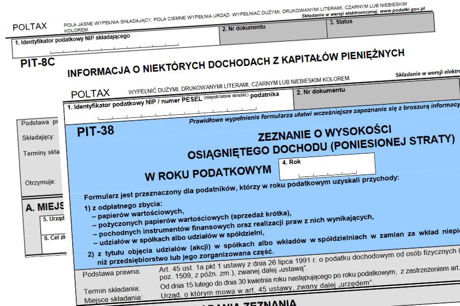 Jak rozliczyć podatek z giełdy? Wszystko o PIT-38 i PIT-8C