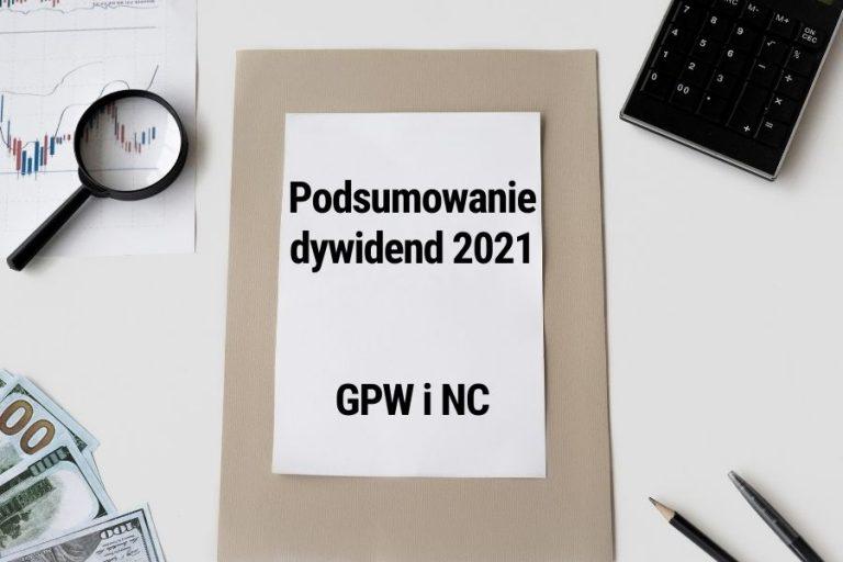 Read more about the article Podsumowanie dywidend z 2021 roku. Spółki z GPW i NewConnect